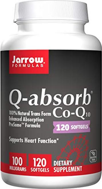 Jarrow Formulas Q-Absorb Co-Q10, Supports Heart Function, 100 mg, 120 Softgels