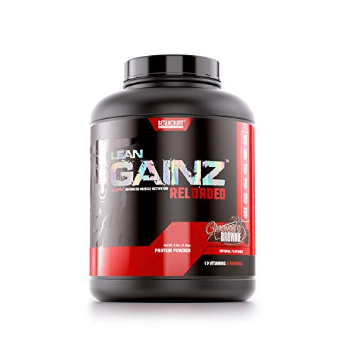 Betancourt Nutrition Lean Gainz Protein Blend, Natural Protein, Carbohydrates, Saturated Fatty Acids, Powder 5.3 lb. (16 Servings), Chocolate Brownie