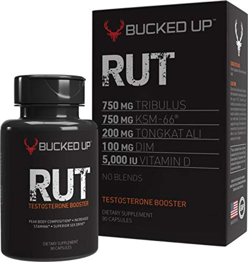 RUT - Testo Booster - Best All-Natural Test Formula for Men - Energy, Endurance, Strength, and Stamina Booster - Muscle Composition Aid - Male Supplements (90 Capsules/Pills)