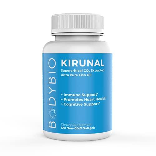 BodyBio- Kirunal Fish Oil - Omega 3 Essential Fatty Acid - 120 softgels