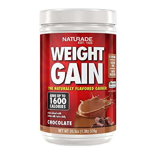Naturade All-Natural Weight Gain Instant Nutrition Drink Mix, Chocolate, 20.3 Ounce