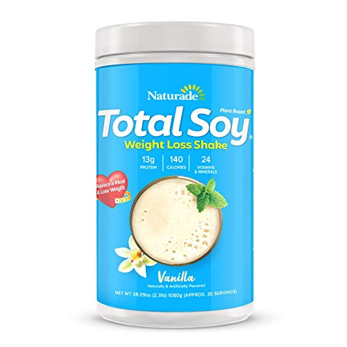 Naturade Total Soy Protein Powder and Meal Replacement Shakes for Weight Loss, Vanilla (30 Servings)