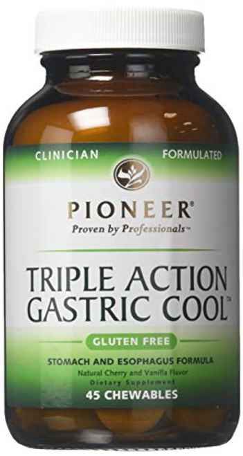 Triple action Gastric Cool Pioneer (Verified Gluten Free) 45 ct Chewable