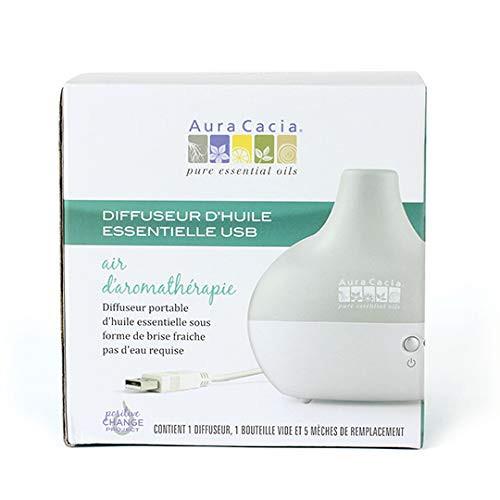 Aura Cacia USB Essential Oil Diffuser, Aromatherapy Air
