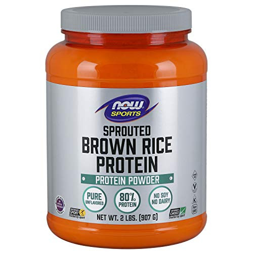 NOW Sports Sprouted Brown Rice Protein Powder,2-Pound-1610396620