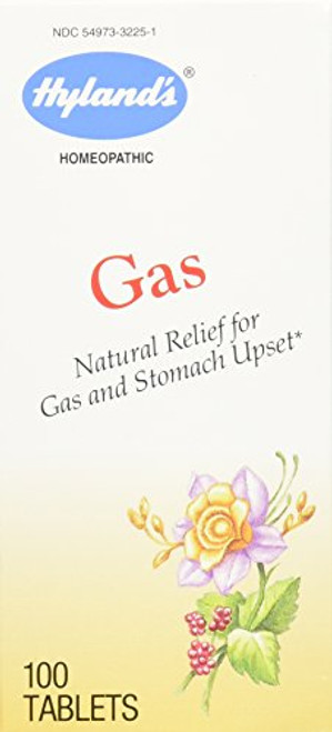Hyland's Gas Tablets, Natural Relief of Gas and Stomach Upset, 100 Quick Dissolving Tablets