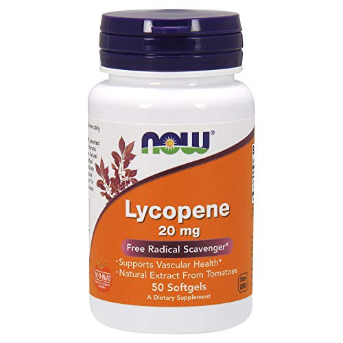 NOW Supplements, Lycopene 20 mg with Natural Extract from Tomatoes, Free Radical Scavenger*, 50 Softgels