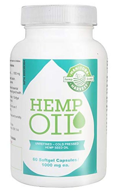 Hemp Seed Oil, 1000Mg Ea, 60 Sgel Pack Of 1