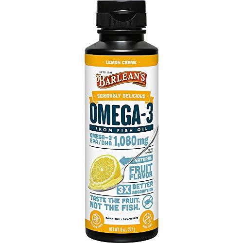 Barlean's Seriously Delicious Omega-3 Fish Oil, Lemon Crème, 8-oz