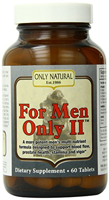 Only Natural for Men Only Ii, 60-Count