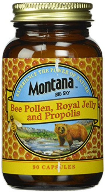 Montana Big Sky, Bee Pollen Royal Jelly and Propolis Capsules, 90 Count