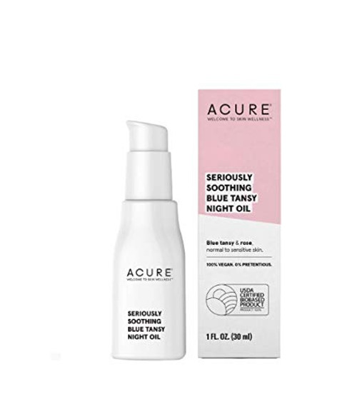 ACURE Seriously Soothing Blue Tansy Night Oil, 1 Fl. Oz. (Packaging May Vary)