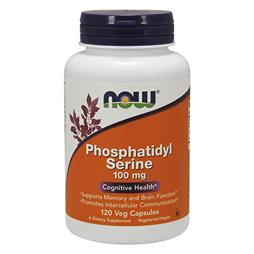 NOW Supplemnets, Phosphatidyl Serine 100 mg with Phospholipid compound derived from Soy Lecithin, 120 Veg Capsules