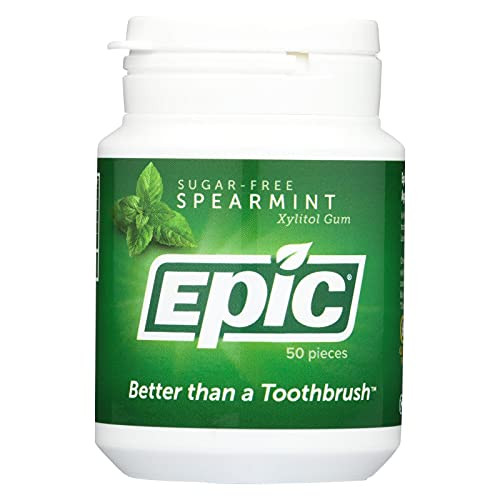Epic Dental Spearmint Gum, Xylitol Sweetened - 50 Ct