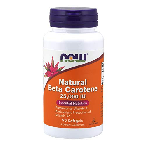 NOW Foods - Beta Carotene (Natural) D. salina with Mixed Carotenoids 25000 IU