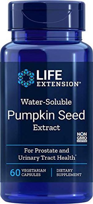 Water-Soluble Pumpkin Seed Extract 60 vegetarian capsules-PACK-3 by LifeExtension