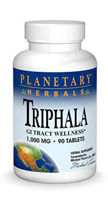 Planetary Herbals Triphala Internal Cleanser Tablets,1000 mg, 90 Count