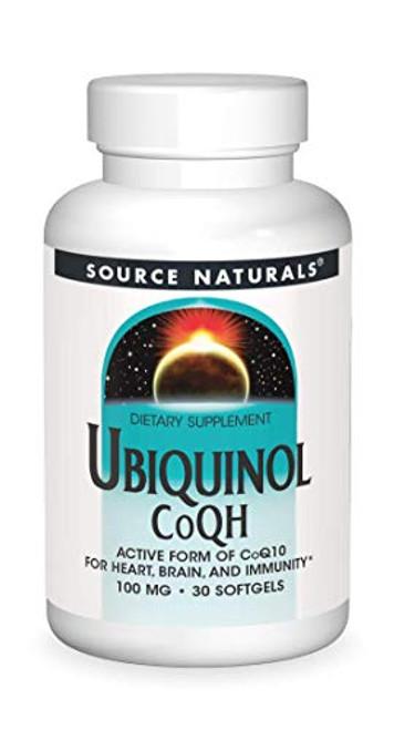 Source Naturals Ubiquinol CoQH 100mg Serving - 30 Softgels
