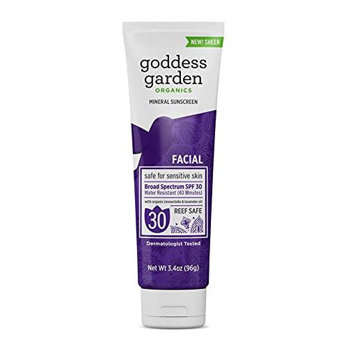 Goddess Garden Organics Facial SPF 30 Natural Sunscreen, Lotion, 3.4 Ounce