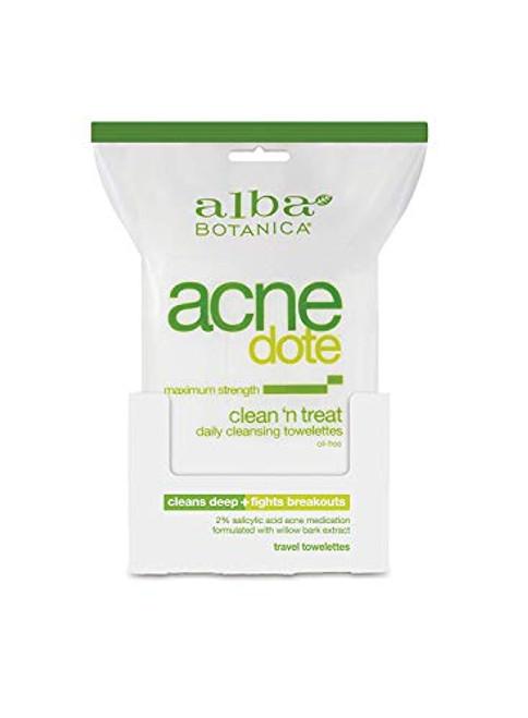 Alba Botanica ACNEdote Clean 'n Treat Towelette-30 ct