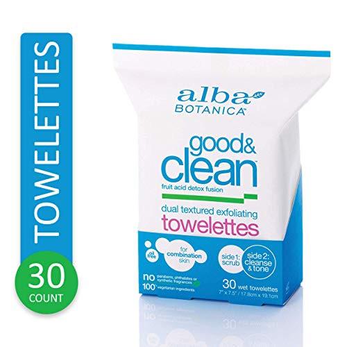Alba Botanica Good & Clean Dual Textured Exfoliating Towelettes 30 ct.