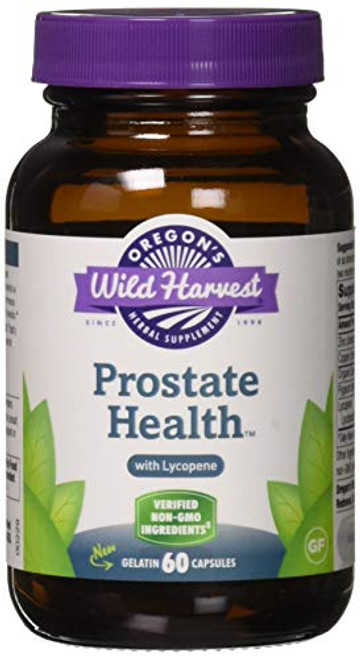 Oregon's Wild Harvest Prostate Health with Lycopene Capsules, 60 Count