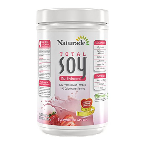 Naturade Total Soy All-Natural Powder - Strawberry Creme - 17.88 oz