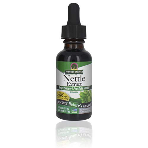 Nature's Answer Nettle Leaf Extract   Concentrated Dark Green Nettle Leaf Herbal Supplement   Non-GMO, Kosher, Gluten-Free, & Alcohol-Free 1oz