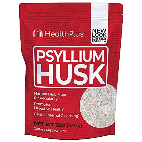 Health Plus Psyllium Husk - Weight Management - Detox, Natural Daily Fiber (12-Ounces, 48 Servings)
