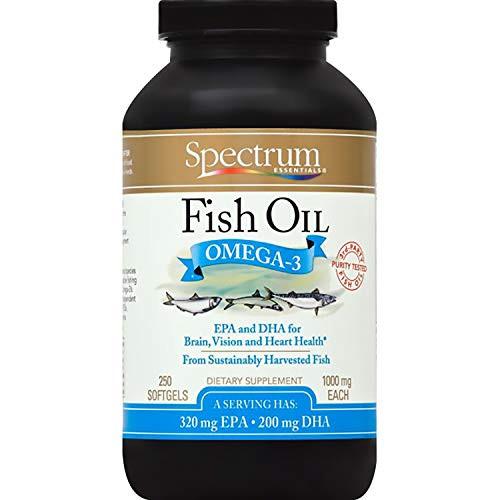 Spectrum Essentials Fish Oil Softgels, 250 Count