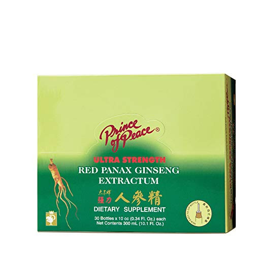 Prince of Peace Ultra Strength Red Panax Ginseng Extractum 10 cc vials -- 30 vials