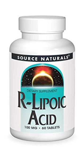 Source Naturals R-Lipoic Acid 100mg, Key to Cellular Energy Generation, 60 Tablets