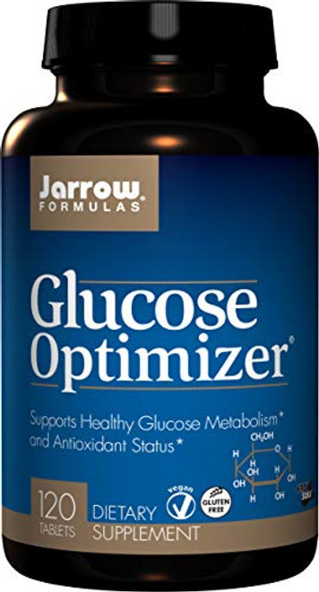 Jarrow Formulas Glucose Optimizer, Supports Healthy Glucose Levels and Antioxidant Status, 120 Easy-Solv Tabs-1610398946