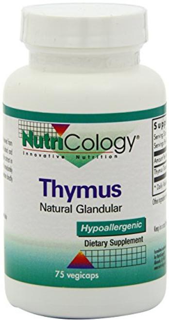 NutriCology Thymus - Natural Glandular, Immune Support - 75 Vegicaps
