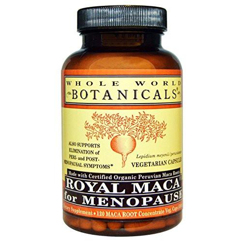 WHOLE WORLD BOTANICALS Royal Maca For Menopause, 120 CT