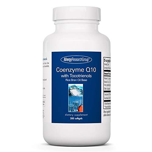 Allergy Research Group - Coenzyme Q10 with Tocotrienols - Heart Brain Antioxidants - 200 Softgels