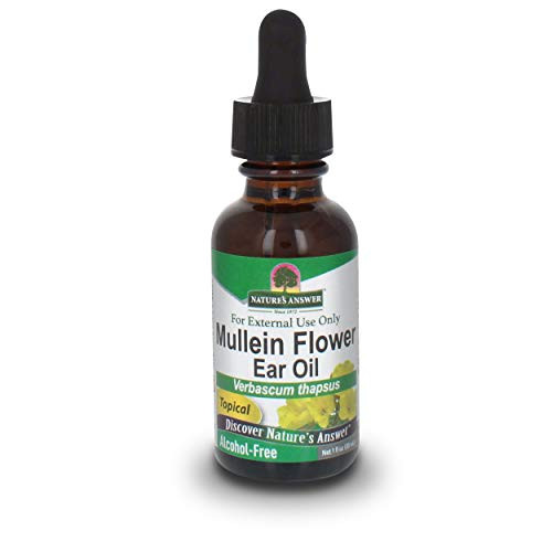 Nature's Answer Alcohol-Free Mullein Flower Ear Oil Topical Formula, 1-Fluid Ounce