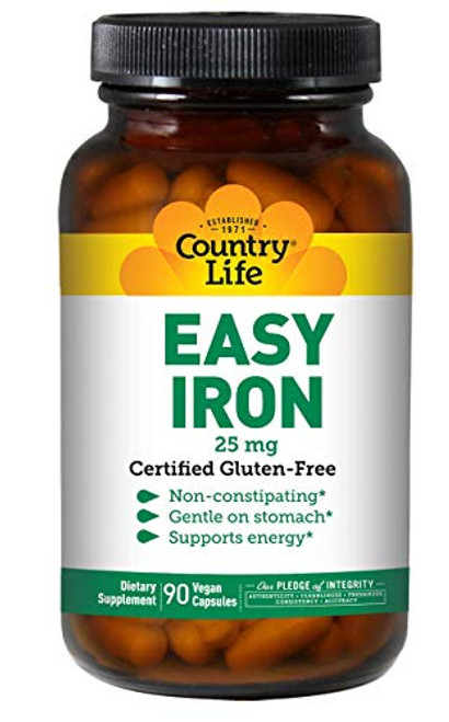 Country Life Easy Iron, 25 mg, 90-Count