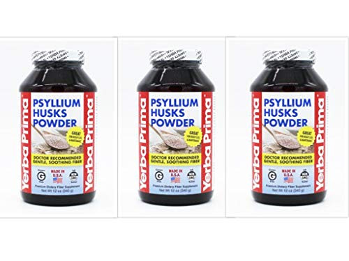 Yerba Prima Psyllium Husks Powder - 12 oz (Pack of 3)