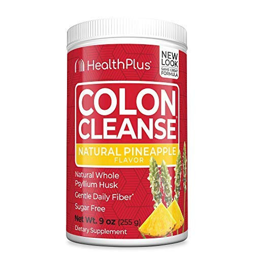 Health Plus Colon Cleanse - Natural Daily Fiber - No Artifical Flavors, Natural Sweetener, Gluten Free, Detox, Heart Healthy, Pineapple Flavor (9 Ounces, 36 Servings)
