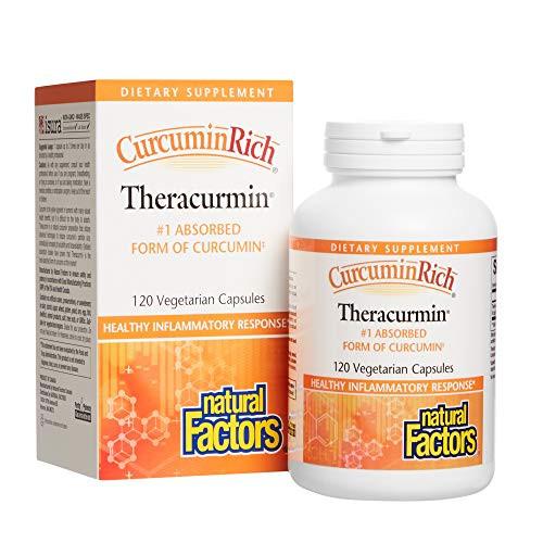 CurcuminRich Theracurmin by Natural Factors, Turmeric, 120 capsules (120 servings)