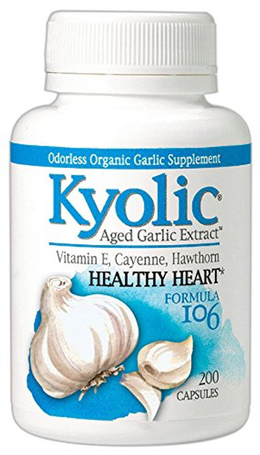 Kyolic Aged Garlic Extract Formula 106 Circulation, 200 Capsules