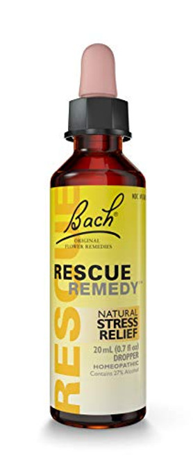 RESCUE REMEDY DROPPER, 20mL – Natural Homeopathic Stress Relief, 0.7 fl oz