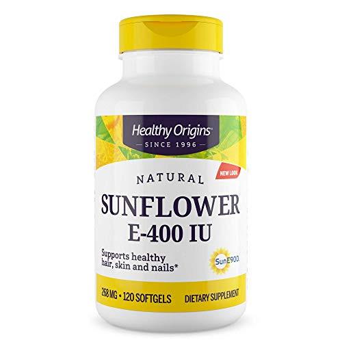 Healthy Origins Sunflower Vitamin E-400 IU, 120 Softgels