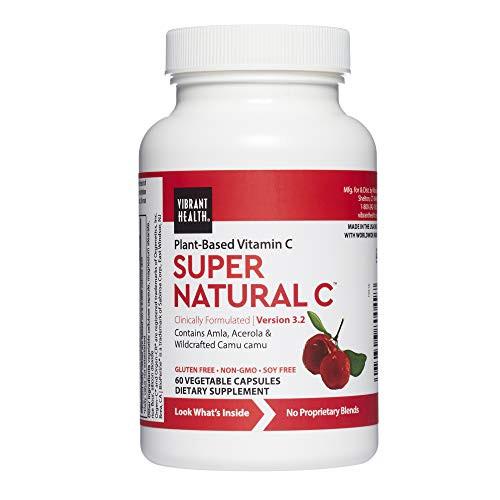 Vibrant Health, Super Natural C, Vegetarian Immune Support, 60 Capsules (FFP)