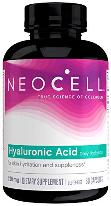 NeoCell Hyaluronic Acid, Daily Hydration for Skin Hydration & Suppleness, 120mg, 30 Capsules (Package May Vary)