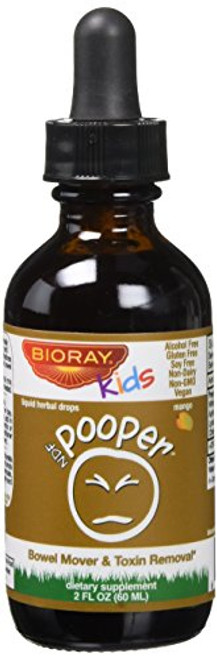 BIORAY KIDS Ndf Pooper Liquid Herbal Drops, 2 oz