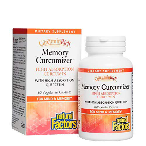CurcuminRich Memory Curcumizer by Natural Factors, Supports Brain Function and Natural Inflammatory Response with Bacopa and Resveratrol, 60 Capsules (30 Servings)