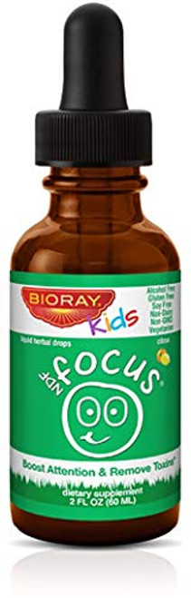 Focus Supplement for Kids by Bioray | NDF Focus Supports Cognitive Function, Enhances Clarity, Promotes Steady Energy Levels and More | 2 fl oz