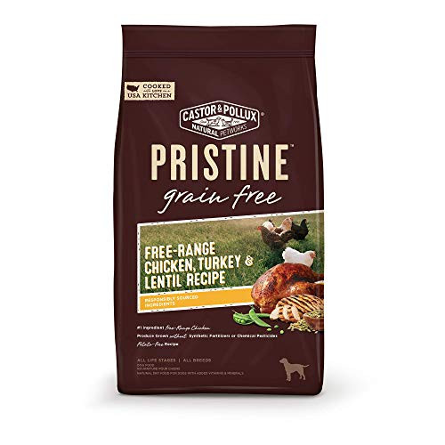 Castor & Pollux Pristine Free-Range Chicken Turkey & Lentil Recipe Dry Dog Food, 4 Lb